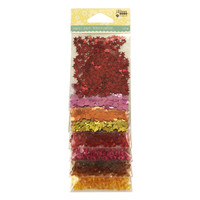 Hampton Art Jillibean Soup  Sequins 8pk Sequins & Jewels -  Warm Mix