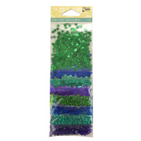 Hampton Art Jillibean Soup  Sequins 8pk, Sequins & Jewels  -  Cool Mix