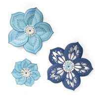 Sizzix Framelits Die Set 5PK With Stamps by David Tutera - Rosette Flower