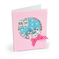 Sizzix Framelits Die Set 6PK With Stamps by Jen Long - Nine Lives