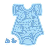 Simply Defined November 2018 Release Dies Set - Welcome Collection, Baby Boy Onesie
