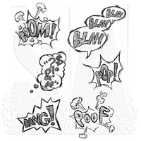 Tim Holtz Cling Stamps - Crazy Thoughts (For Bird Crazy)