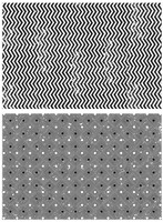 Tim Holtz Cling Stamps - Zigzag & Diamonds