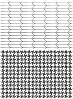 Tim Holtz Cling Stamps  - Tailor & Houndstooth