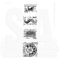 Tim Holtz Blueprint Strip Cling Stamps - Ring Master