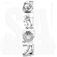Tim Holtz Blueprint Strip Cling Stamps - Christmas 2