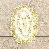 Couture Creations Modern Essentials Cut & Foil Die - Decorative Nesting Rose Vine Frames