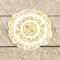 Couture Creations Modern Essentials Cut & Foil Die - Decorative Nesting Circular Flourished Frames