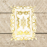 Couture Creations Modern Essentials Cut & Foil Die - Decorative Nesting Rectangular Flourished Frames