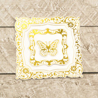 Couture Creations Modern Essentials Cut & Foil Die - Decorative Nesting Butterfly Frames