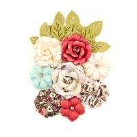 Prima Marketing, Midnight Garden Mulberry Paper Flowers 14/Pk - Garden Blooms