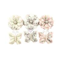 Prima Marketing, Poetic Rose Paper Flowers 6/Pkg - Dainty Dreams With Butterflies
