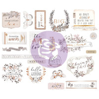 "Prima Marketing, Pretty Pale Chipboard Stickers 5""X8"" 2/Pkg Icons With Foil Accents"