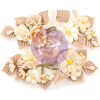 Prima Marketing, Pretty Pale Paper Flowers 4/Pkg