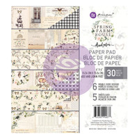 Prima Marketing, Spring Farmhouse  Double-Sided 6X6 Paper Pad