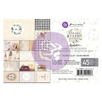 "Prima Marketing, Spring Farmhouse  Journaling Cards Pad 4""X6"" 45/Pkg"