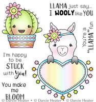 Darcie's Heart & Home Cling Stamp Set - Llama Fun