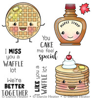 Darcie's Heart & Home Cling Stamp Set - Waffle Lot