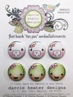 Darcie's Heart & Home Tin Pins - Llama Fun