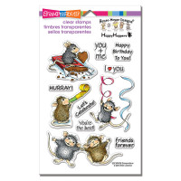 Stampendous Perfectly Clear Stamps,House Mouse - Celebrate Friends