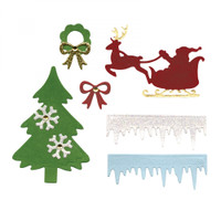 Sizzix Thinlits Die Set 6PK by Lori Whitlock - Christmas Embellishments
