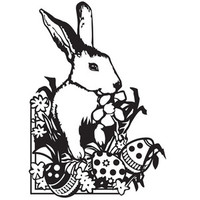 Darice A2 Embossing Folder - Easter Bunny