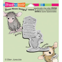 Stampendous: House Mouse Stamps - Stack of Books