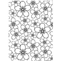 Darice A2 Embossing Folder - Cherry Blossom