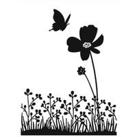 Darice A2 Embossing Folder - Butterfly On Flower