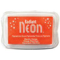 Radiant Neon Ink Pad - Electric Orange