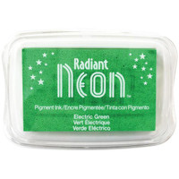 Radiant Neon Ink Pad - Electric Green