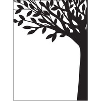 Darice A2 Embossing Folder - Leafy Tree Trunk