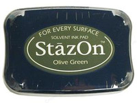 StazOn Permanent Ink Pad - Olive Green