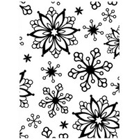 Darice A2 Embossing Folder - Snowflakes Assorted Sizes Background