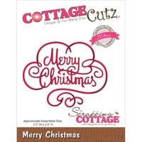 CottageCutz Elites Die - Merry Christmas