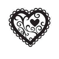 Darice A2 Embossing Folder - Valentine Hearts