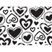 Darice A2 Embossing Folder - Layered Hearts