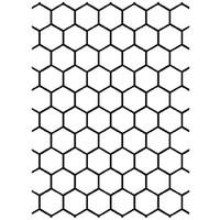 Darice A2 Embossing Folder - Honeycomb