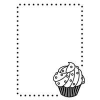 Darice A2 Embossing Folder - Cupcake Corner