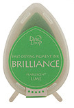 Dew Drop Brilliance Inks - Pearlescent Lime