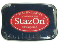 StazOn Permanent Ink Pad - Blazing Red