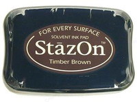 StazOn Permanent Ink Pad - Timber Brown