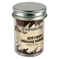 Stampendous Shabby Embossing Enamels - Aged Copper