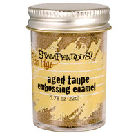 Stampendous Shabby Embossing Enamels - Aged Taupe