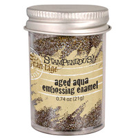 Stampendous Shabby Embossing Enamels - Aged Aqua