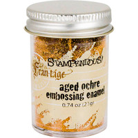 Stampendous Shabby Embossing Enamels - Aged Ochre