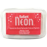 Radiant Neon Ink Pad - Electric Coral
