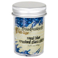 Stampendous Crushed Glass Glitter - Royal Blue