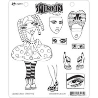Dyan Reaveley's Dylusions Cling Stamp Collections - Curious Corrin