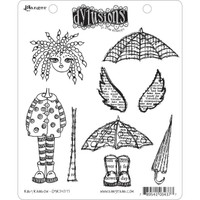 Dyan Reaveley's Dylusions Cling Stamp Collections - Ruby Rainbow
